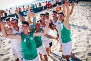 Nazionale Under 16 Beach esulta